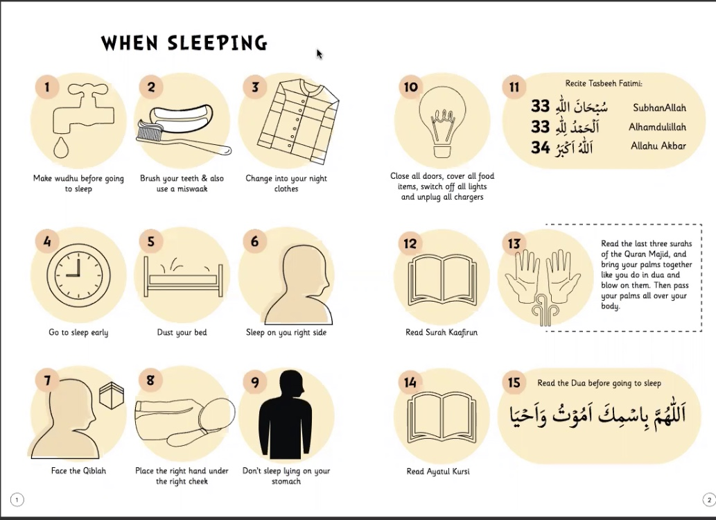 Sunnah of Sleeping